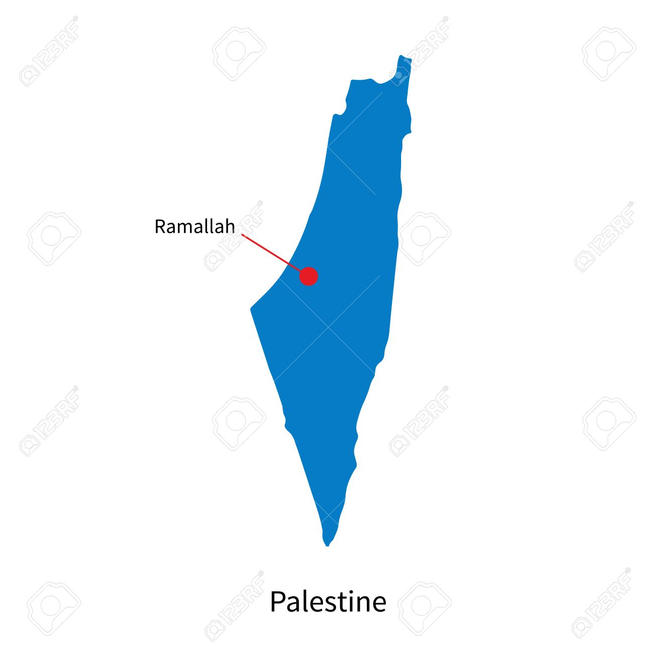 Palestine Map Vector. Vector. Get Free Images About World Maps.