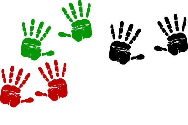 Palestinian Hand Prints Clip Art at Clker.com.