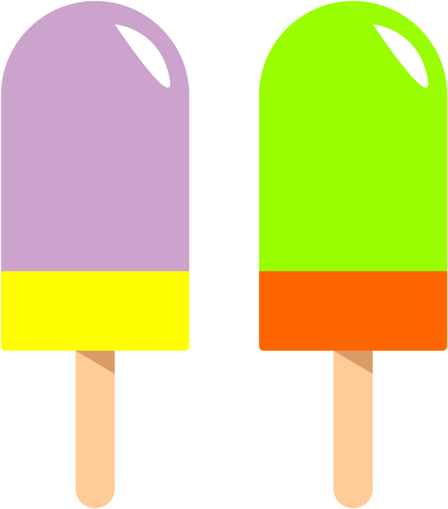 Popsicle Clipart Green.