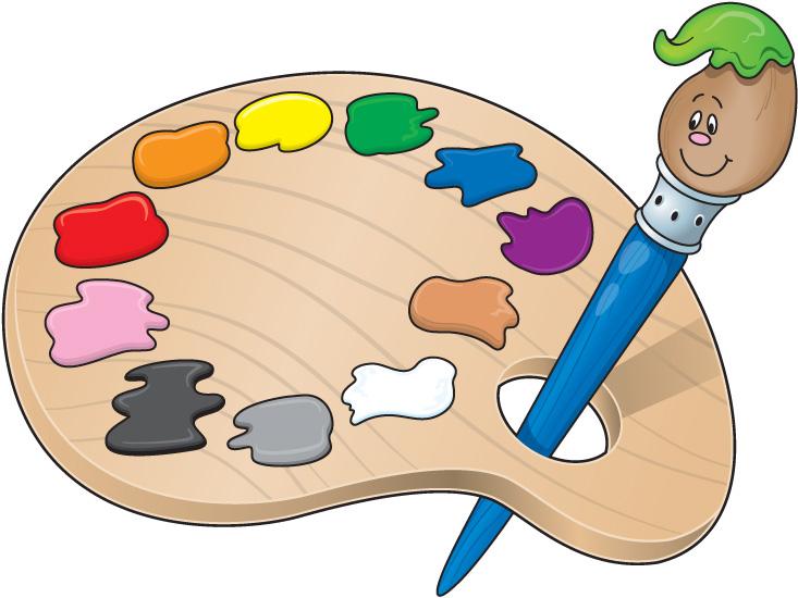 Painters Palette Clip Art.