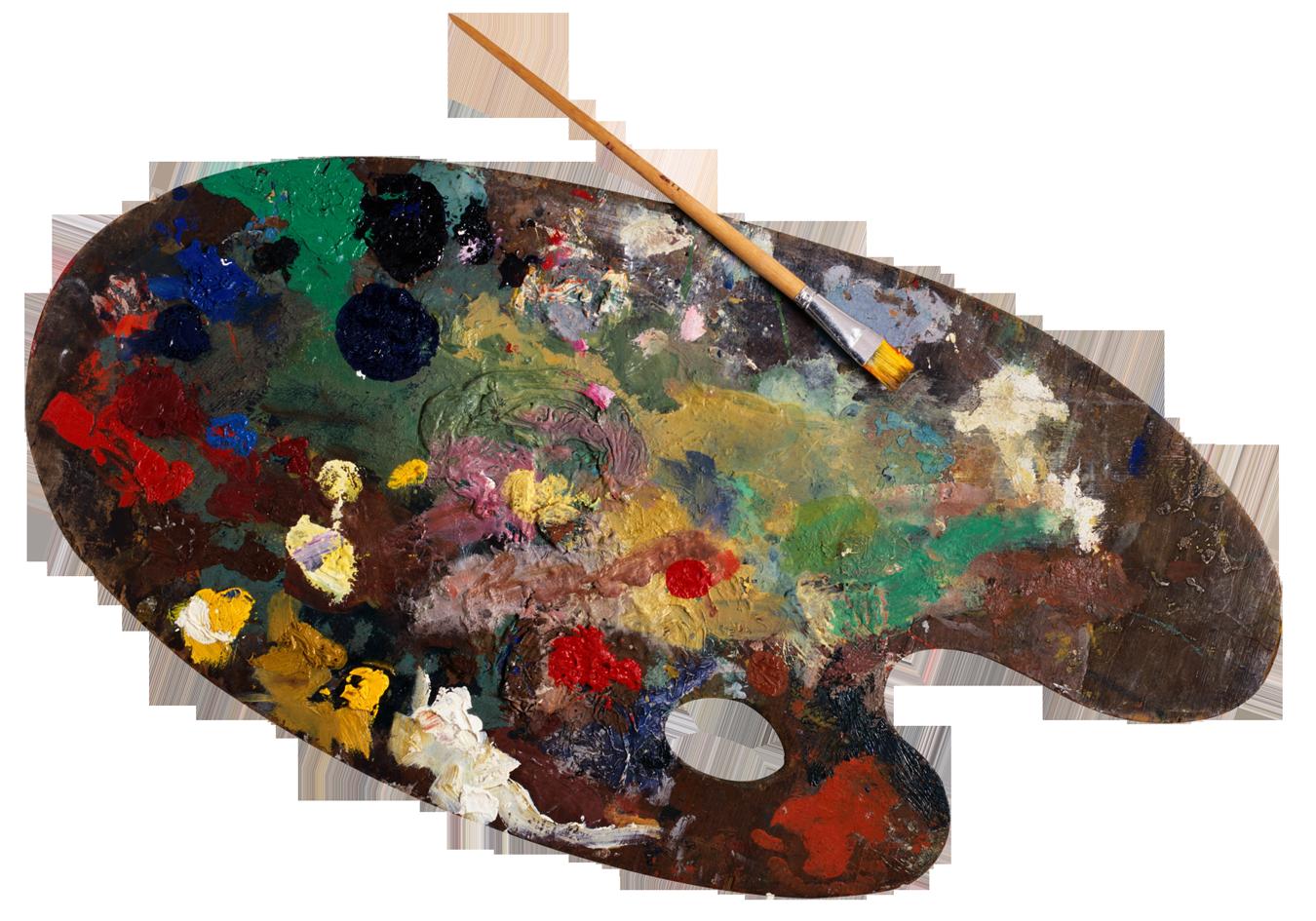 Paint Palette PNG Image.