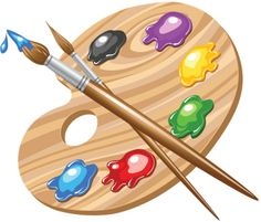 Paint palettes clip art and elementary schools on.