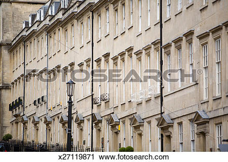 Stock Photography of Palladian style town houses on residential.