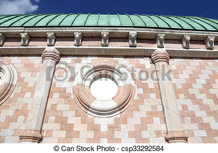 Pictures of Detail of Palladian Basilica the great public monument.