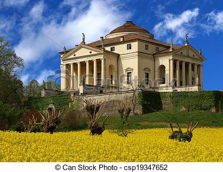 Stock Images of Wonderful palladian Villa called LA ROTONDA in.