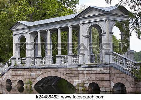 Stock Photo of Marble (Palladian) Bridge, or Siberian Marble.