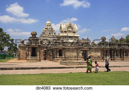 Stock Photo of Kailasanatha temple ; Dravidian temple architecture.