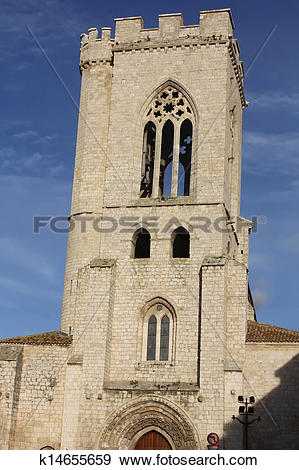 Stock Photograph of Church of San Michele in Palencia Spain.