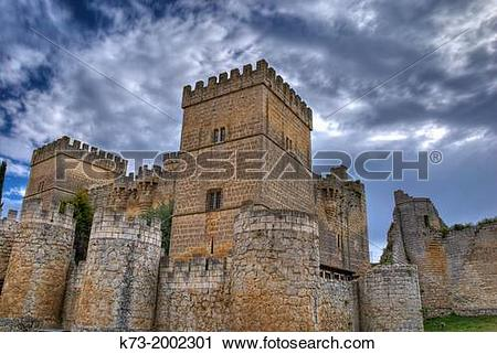 Stock Photography of Castle of Ampudia (15th Century). Ampudia.