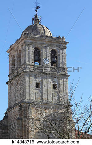 Stock Images of Catholic Church in the city of Palencia Spain.