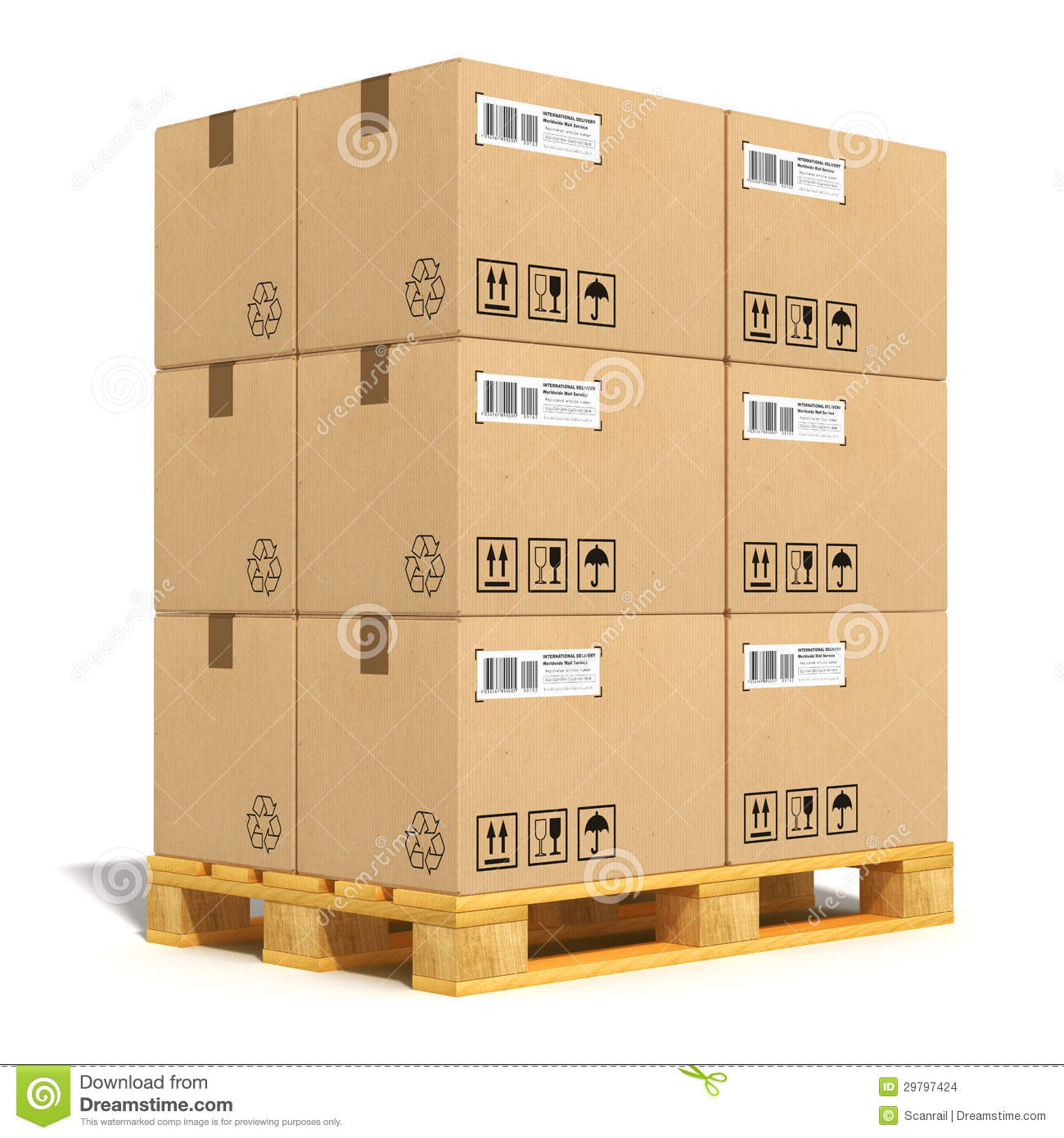 Shipping Pallet Clipart.