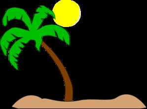 Double Palm Beach Clip Art at Clker.com.