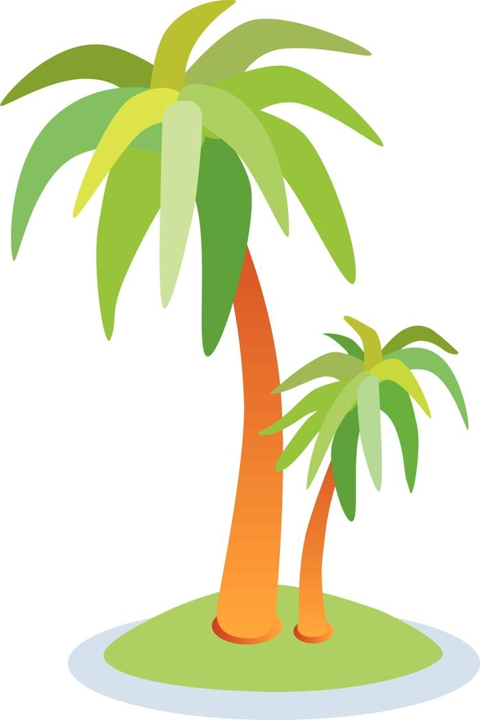 Palm Tree Beach Vector.