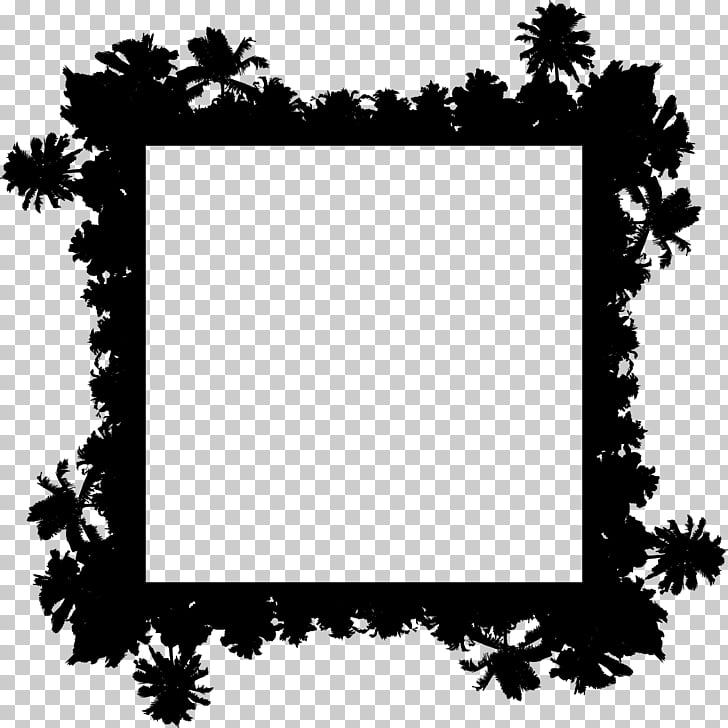 Tree , palm border PNG clipart.