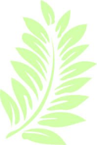 Palm leaves clipart #1