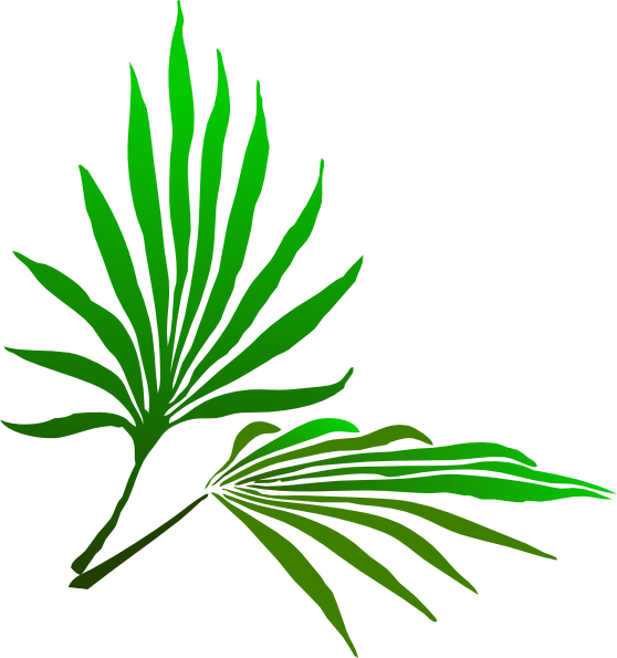 Palm branch clip art.