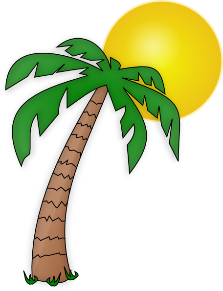 Palm Tree Clip Art Transparent Background.