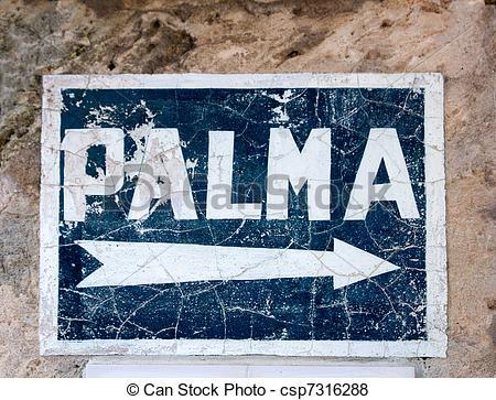 Bilder von blaues, Mallorca, de, zeichen, Palma, Pfeil.