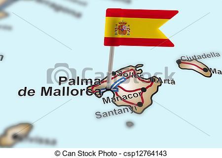 Stock Foto von Stift, de, Fahne, Palma, Mallorca, Spanien.