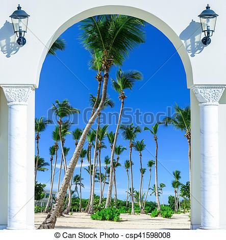 Stock Photography of door open palm beach.