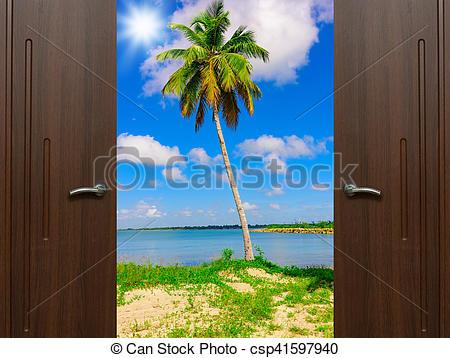 Stock Photo of door open palm beach.
