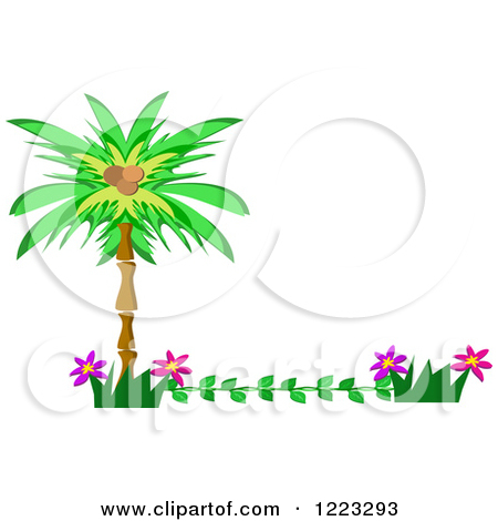 Palm flower clipart #16