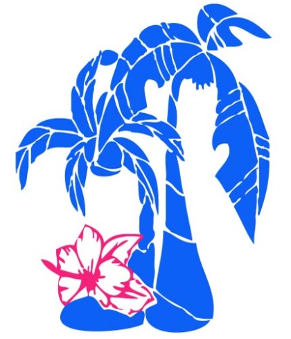 Palm flower clipart #8