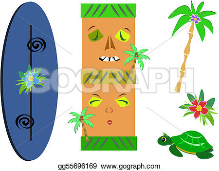 Palm flower clipart #12