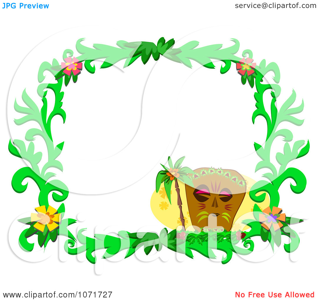Palm flower clipart #7