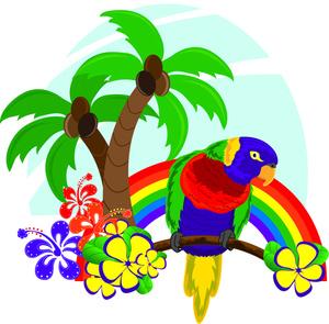 Palm flower clipart #15