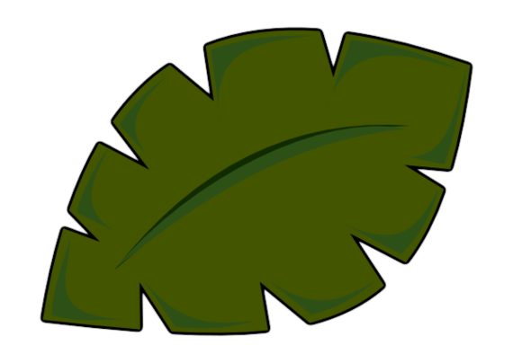 Palm frond palm leaf clipart #18