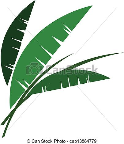 Palm leaves clipart #10