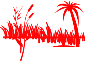 Red Palm Tree And Grass Clip Art at Clker.com.