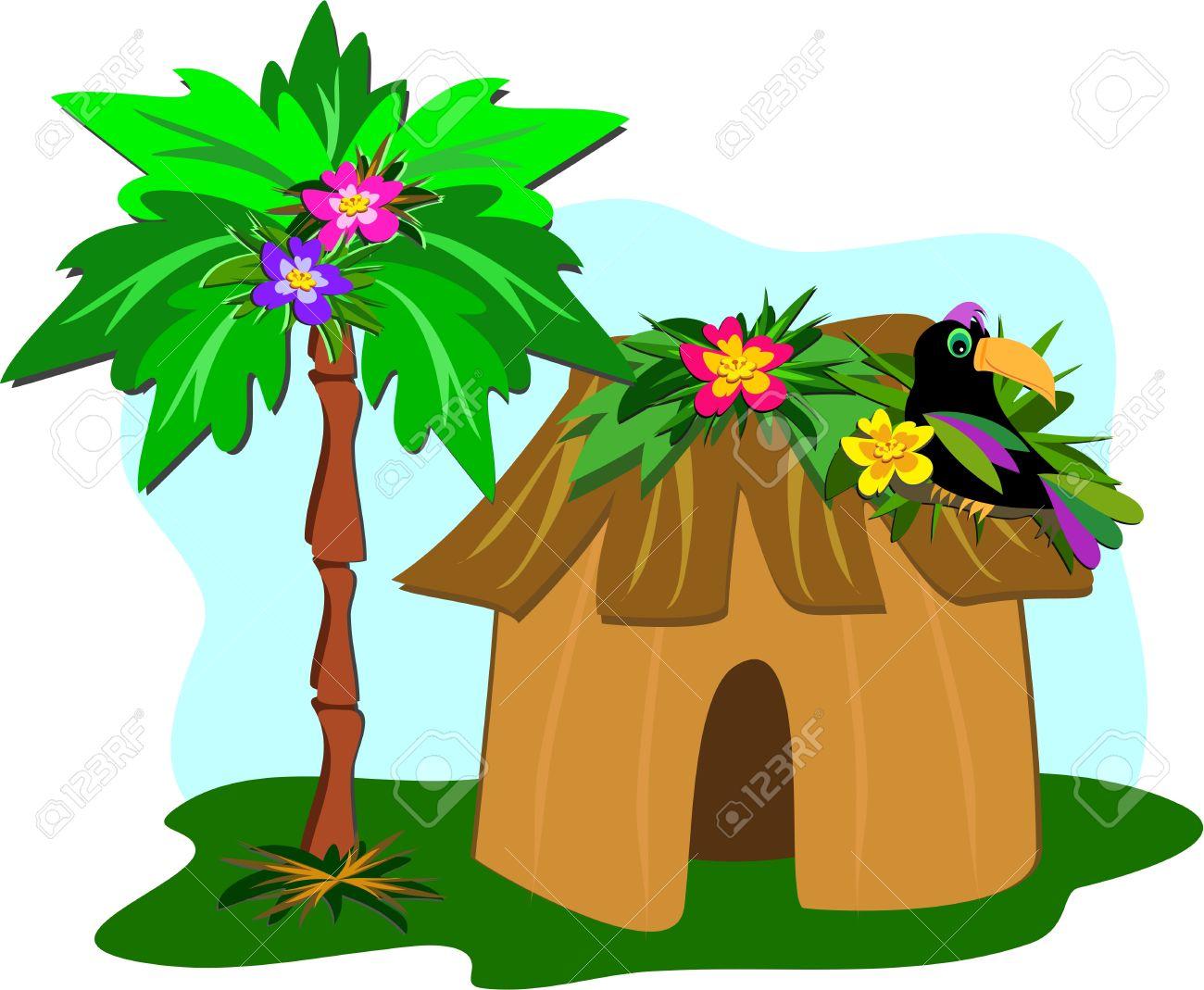 Grass Hut Clipart.