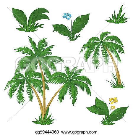 Palm grass clipart #11