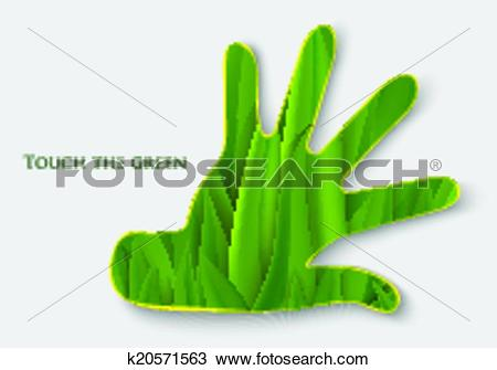 Clipart of Palm grass. concept of ecology k20571563.