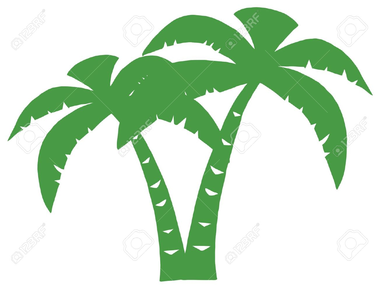 Green Palms Three Silhouette Royalty Free Cliparts, Vectors, And.