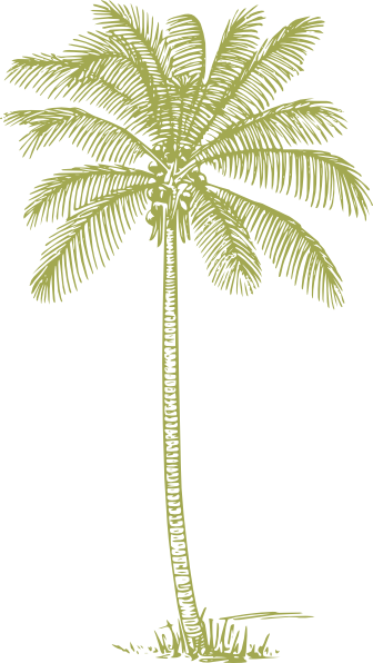 Palm Tree Silhouette Yellow.