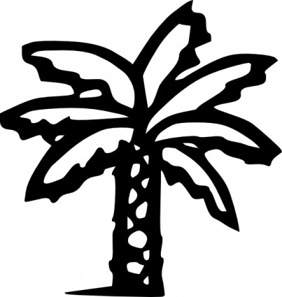 Palm hair clipart #17