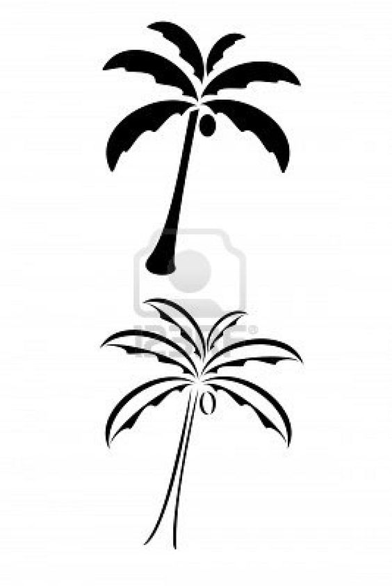 Black Tribal Palm Tree Tattoo Royalty Free Cliparts Vectors And.