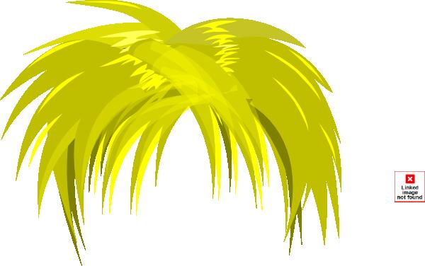 Palm hair clipart #15