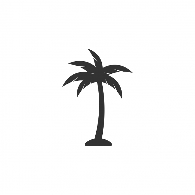 Palm Tree Icon Design Template Vector Isolated, Beach, Tree.