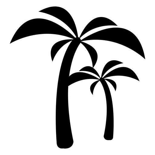 Palm trees icon.