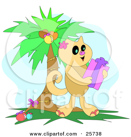 Palm kitten clipart #15