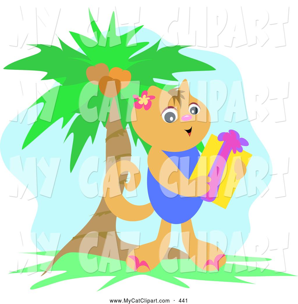 Palm kitten clipart #14