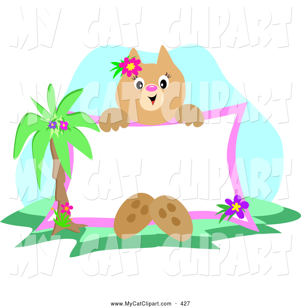 Palm kitten clipart #13
