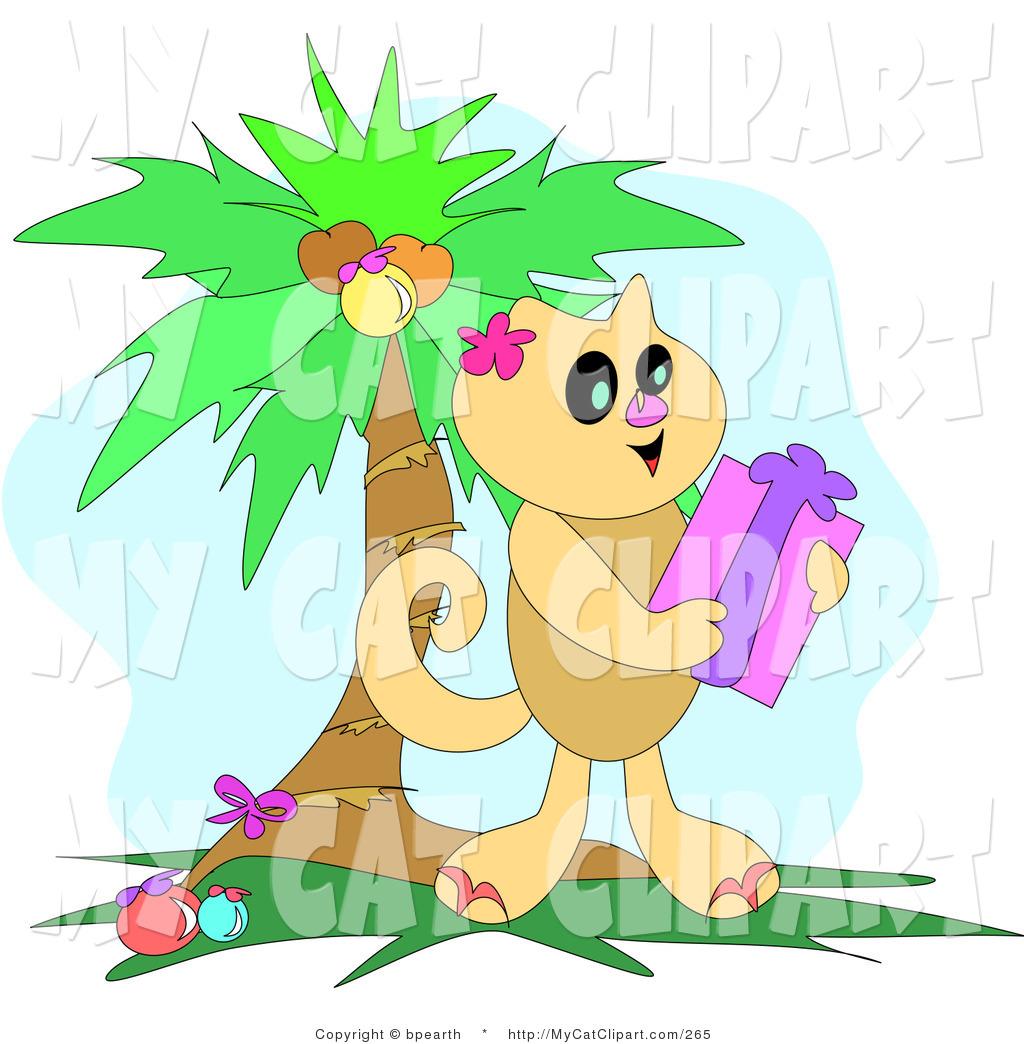 Palm kitten clipart #17