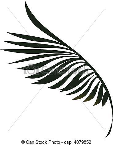 Palm leaf clipart #14