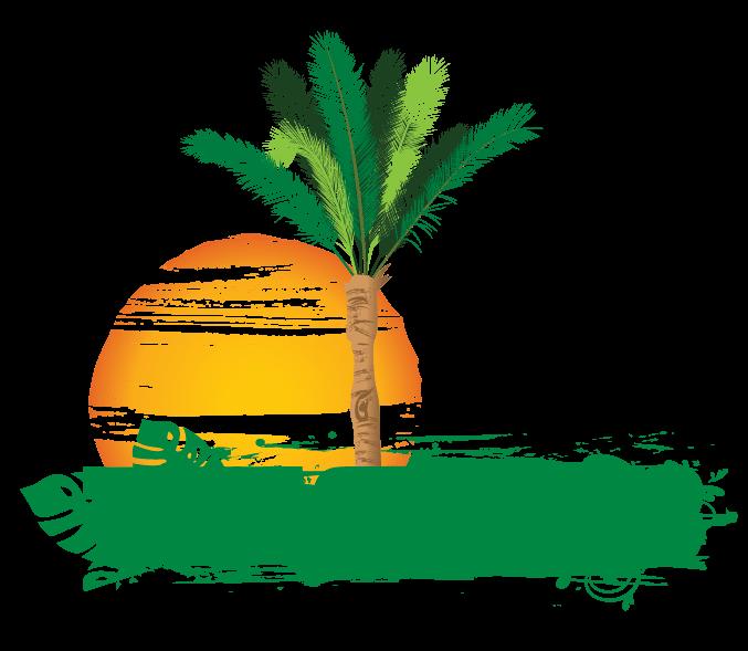 Create Online Free Palm tree Logo Design.