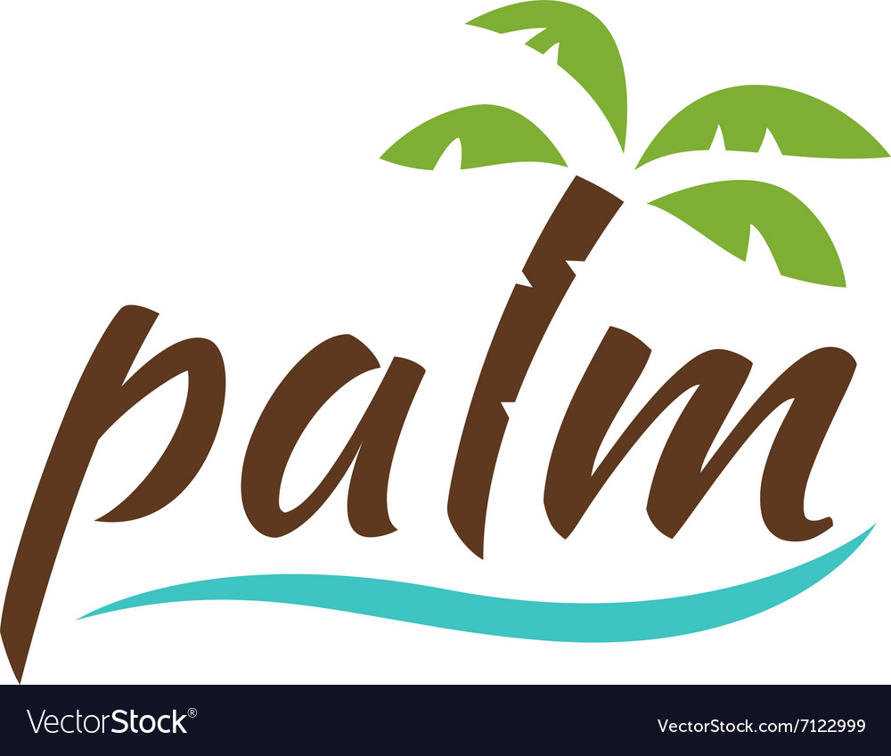 Water with palm logo for holiday business.